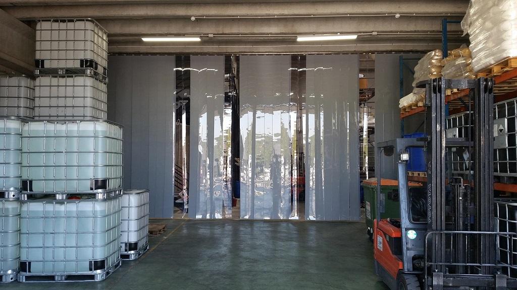 cortinas de lamas de PVC traslúcidas