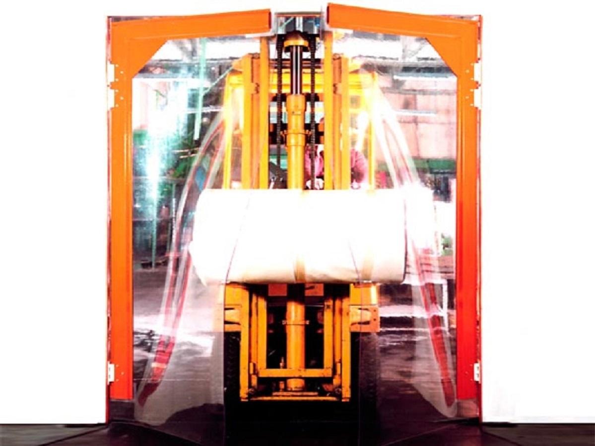 Puertas industriales con PVC flexible